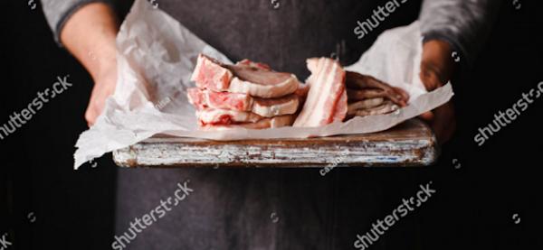 Lapjes vers vlees op schaal